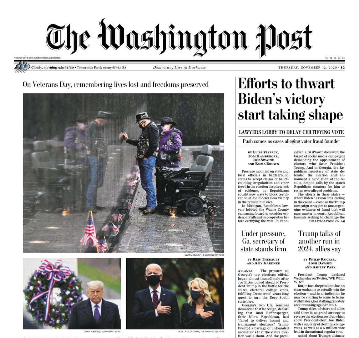 The Washington Post – November 12, 2020