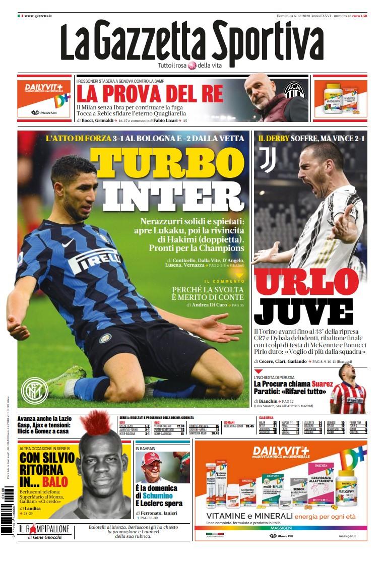 La Gazzetta dello Sport – 6 Dicembre 2020