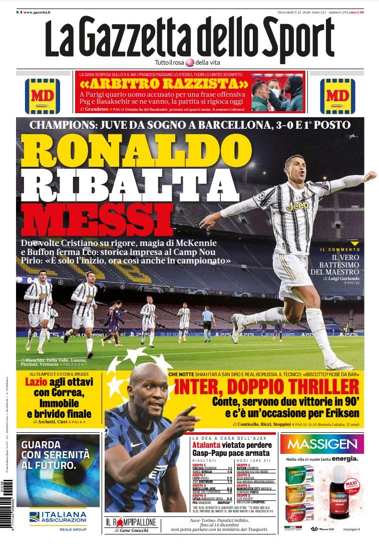 La Gazzetta dello Sport – 9 Dicembre 2020