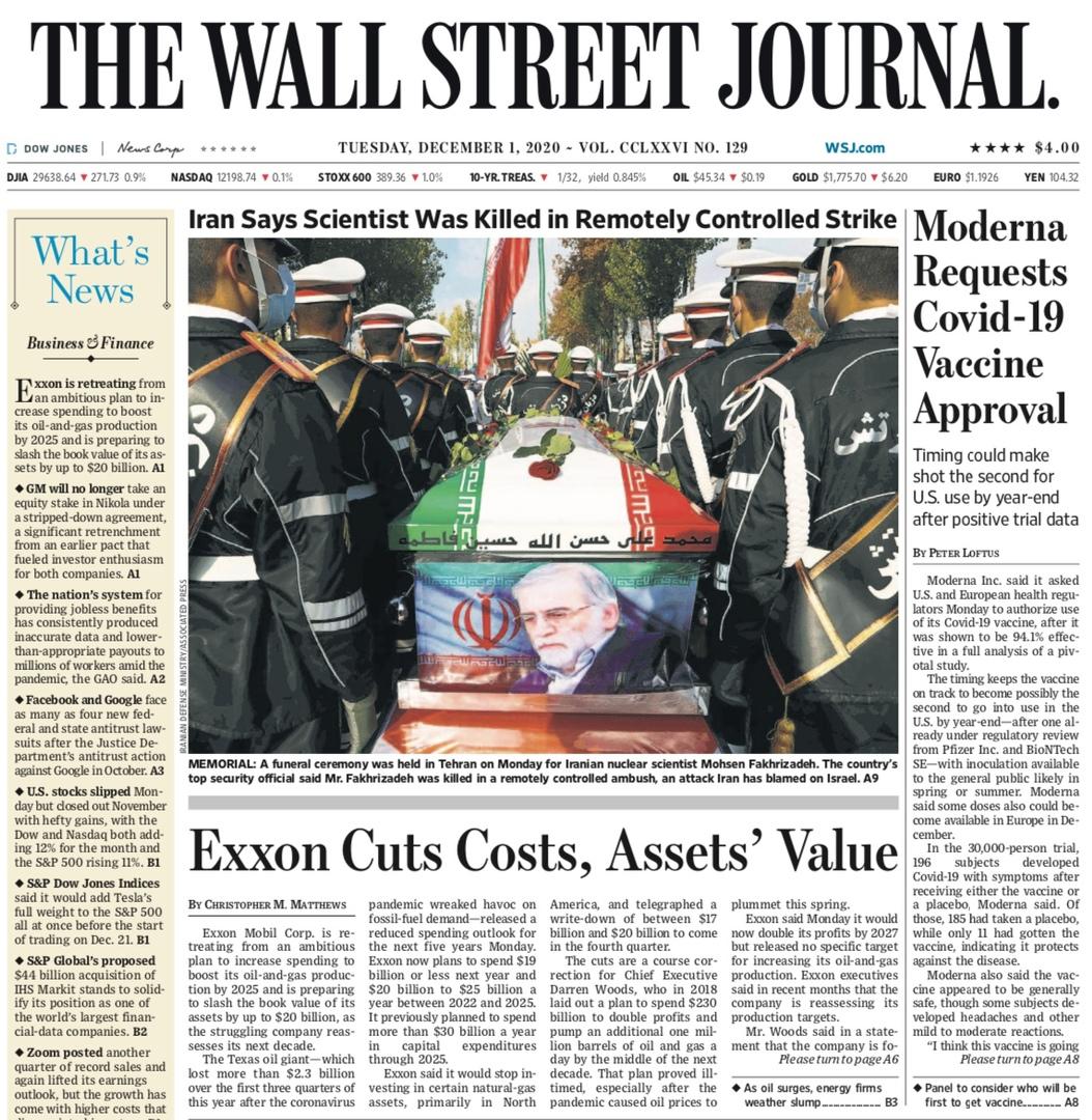 The Wall Street Journal – December 1, 2020